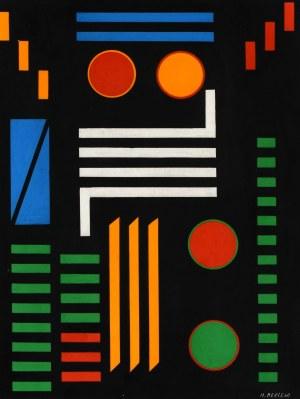 Henryk Berlewi (1894 Warszawa - 1967 Paryż), Kompozycja barwna, 1957