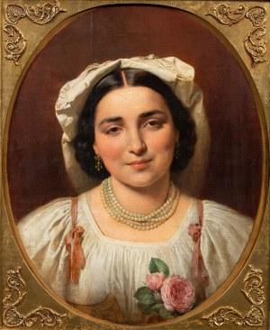 Leonard Straszyński, Portret młodej rzymianki, 1864