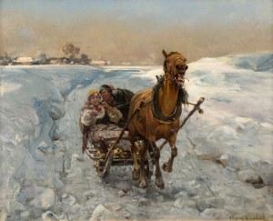 Alfred Wierusz-Kowalski, Sanna (Jazda w kopnym śniegu), ok. 1890-1900