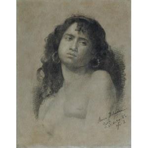 Bilińska - Bohdanowiczowa Anna, PORTRET MODELKI – CYGANKA, 25 XI 1882