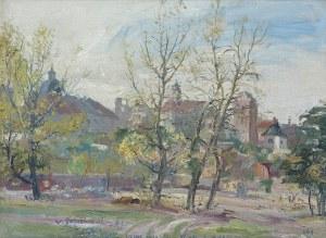 Zakrzewski Włodzimierz, WARSZAWA. NOWE MIASTO. WIDOK Z RYBAKÓW, 1960