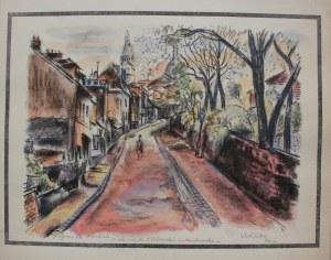 Michel Adlen (1898-1980), Rue de l'Abreuvoir à Montmartre