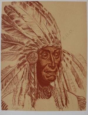 "Bolesław Cybis wg (1895-1957), Silent Thoughts. Shoshone(z teki ""Folio One of American Indian"", 1970, no 258/1000)"