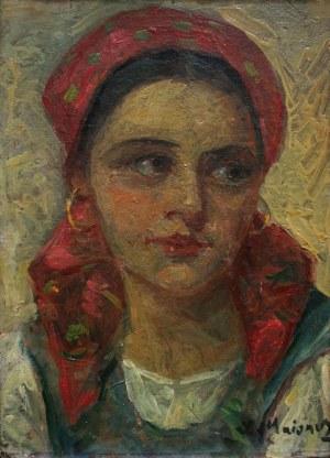 Salomon Meisner (1886-1942), Dziewczyna w czerwonej chuście