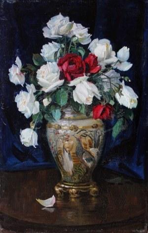 Ignacy Zygmuntowicz (1875-1947), Róże w wazonie