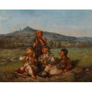 MALI KARCIARZE, 1868, MALARZ POLSKI