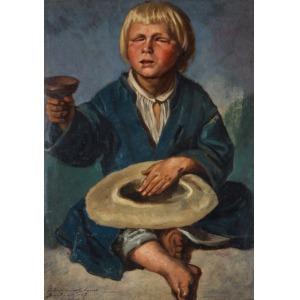 Adrian GŁĘBOCKI, ŻEBRZĄCY CHŁOPIEC, 1867
