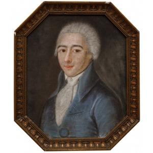 PORTRET MŁODZIEŃCA, k. XVIII w., MALARZ NIEROZPOZNANY