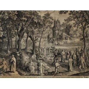 Nicolaes de BRUYN, SPOTKANIE JEZUSA Z SETNIKIEM Z KAFARNAUM, 1652