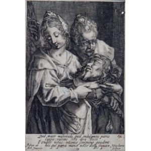 Johannes BARRA, HERODIADA Z GŁOWĄ ŚW. JANA CHRZCICIELA