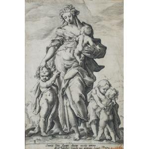 Jacob MATHAM, CHARITAS wg Hendricka Goltziusa