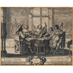 Abraham BOSSE, ALEGORIA SŁUCHU, 1635