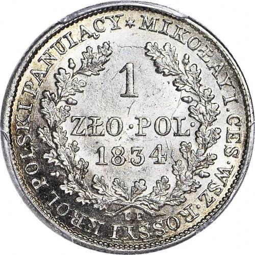 R-, Królestwo Polskie, Aleksander I, 1 złoty 1834, rzadkie, MENNICZE