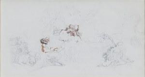 Teofil KWIATKOWSKI (1809-1891), Szkice przygotowawcze do malowidła monumentalnego (?)