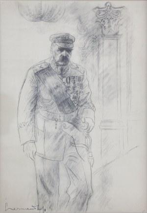 Zdzisław CZERMAŃSKI (1900-1970), W Paryżu, z teki Józef Piłsudski w 13 planszach, 1935