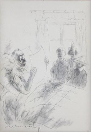 Zdzisław CZERMAŃSKI (1900-1970), 19 Marca: Laurka, z teki Józef Piłsudski w 13 planszach, 1935