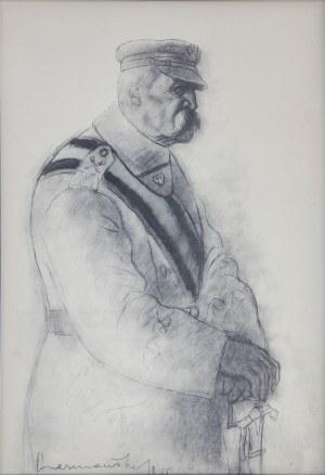 Zdzisław CZERMAŃSKI (1900-1970), W Krakowie, z teki Józef Piłsudski w 13 planszach, 1935