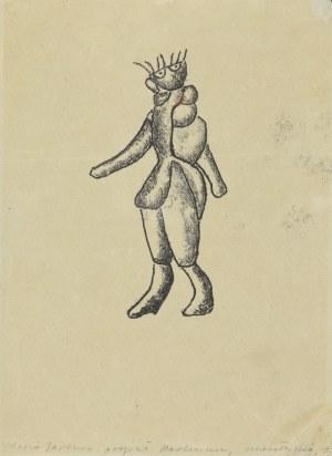 Maria JAREMA (1908-1958), Projekt kostiumu  do  sztuki  St.  I. Witkiewicza: Mątwa , 1956