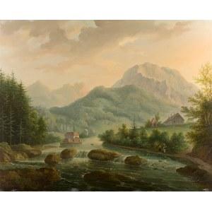 Antoni Lange (1774 Wiedeń – 1842 Lwów), Nad potokiem, 1840 r.