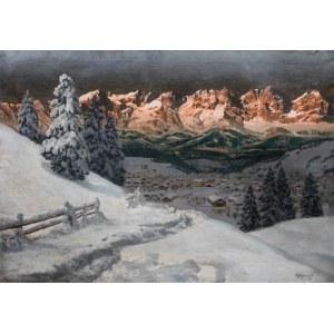 Alois Arnegger (1879 Wiedeń - 1963 tamże), Pejzaż zimowy