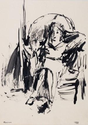 Bencion(Benn) Rabinowicz (1905 Białystok - 1989 Paryż), Siedząca, 1937 r.