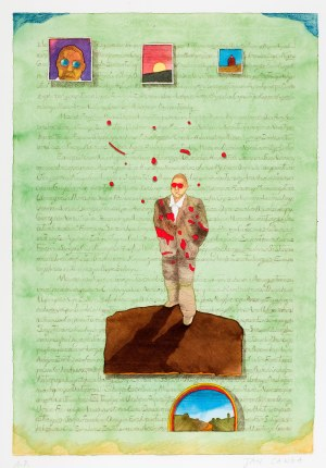 Jan Sawka (1946 Zabrze - 2012 Nowy Jork), Projekt do książki