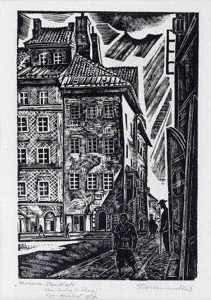 Kazimierz Wiszniewski (1894-1960), Warszawa, Stare Miasto – Kamienica Ks. Skargi, 1936 r.
