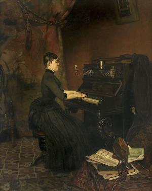 Merwart Paweł, IMPROWIZACJA. PIANISTKA, 1889