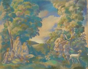 Borowski Wacław, DIANA I AKTEON,1920