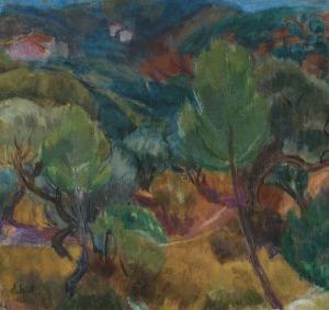Eibisch Eugeniusz, PEJZAŻ Z PROWANSJI, 1932-1937