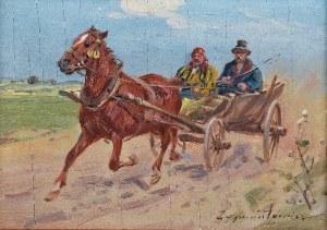 Ignacy ZYGMUNTOWICZ (1875-1947), Pędzący zaprzęg