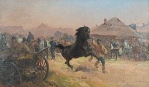 Ignacy ZYGMUNTOWICZ (1875-1947), Próba konia, ok. 1925