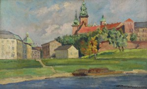 Mieczysław BIESZCZANIN (1910-1968), Widok na Wawel, 1938