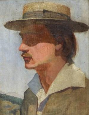 Bolesław BARBACKI (1891-1941), Portret mężczyzny w kapeluszu - Autoportret?, ok. 1920