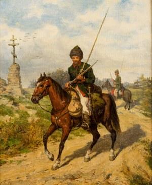 Ludwik Gędłek (Kraków 1847 - Wiedeń 1904), Kozak na koniu