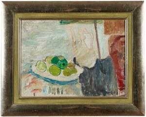 Jan Cybis (1897 Wróblin - 1972 Warszawa), Martwa natura z zielonymi owocami, 1949 r.