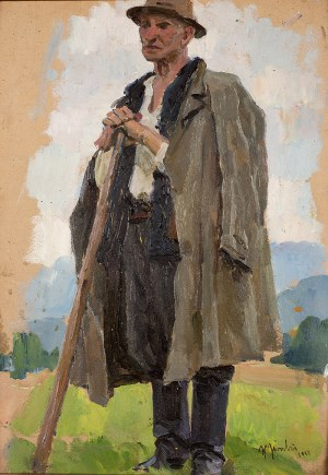 Władysław Jarocki (1879 Podhajczyki/Ukraina - 1965 Kraków), Hucuł, 1958 r.