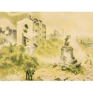 Maciej Nehring (1901 Warszawa-1977 tamże), Desant Armii Berlinga na lewobrzeżną Warszawę w 1944 r.