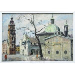 Franciszek Kmita (1926–2013), Widok krakowskiego rynku z kościołem św. Stanisława, 1978*