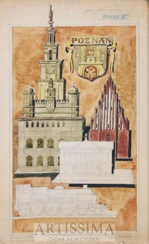 Zygmunt Kamiński (1888–1969), Poznań – projekt intarsji*, 1948