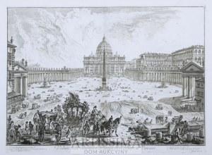 Giovanni Battista Piranesi (1720–1778), Veduta della Basilica e Piazza di S. Pietro in Vaticano, 1748
