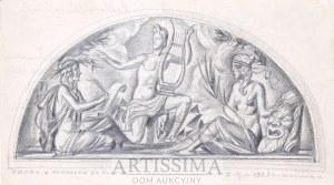 Zygmunt Kamiński (1888–1969), Szkic plafonu w Teatrze Narodowym – jeden z pomysłów*, 1923