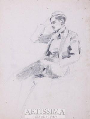 Zygmunt Badowski (1875–1959), Portret mężczyzny*, l. 90. XIX w.