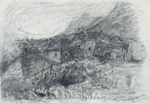 Eugeniusz Eibisch (1896–1987), Pejzaż z chatami*