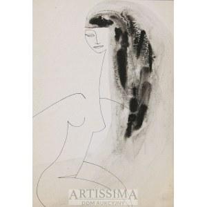 Urszula Broll (ur. 1930), Akt długowłosej dziewczyny, 1953*