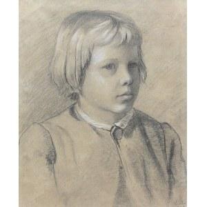 Antoni Kozakiewicz (1841 Kraków - 1929 tamże), Portret chłopca, 1867 r.