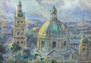 Adam Batycki (1886-1970), Panorama Lwowa (Widok na kościół Dominikanów)
