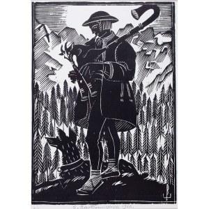 Edmund Ludwik Bartłomiejczyk (1885 Warszawa-1950 Warszawa), Grający pasterz, 1926 r.