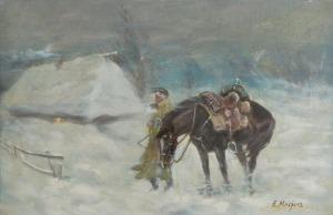 Edward MESJASZ (1929-2007), Żołnierz napoleoński w zamieci