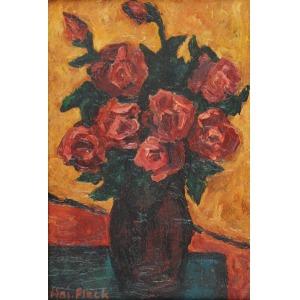 Wojciech Otton FLECK (1903-1972), Róże w wazonie
